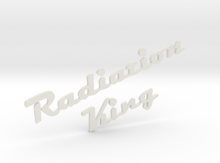 Radiation King Logo For Fallout 4 Radio 3d printed