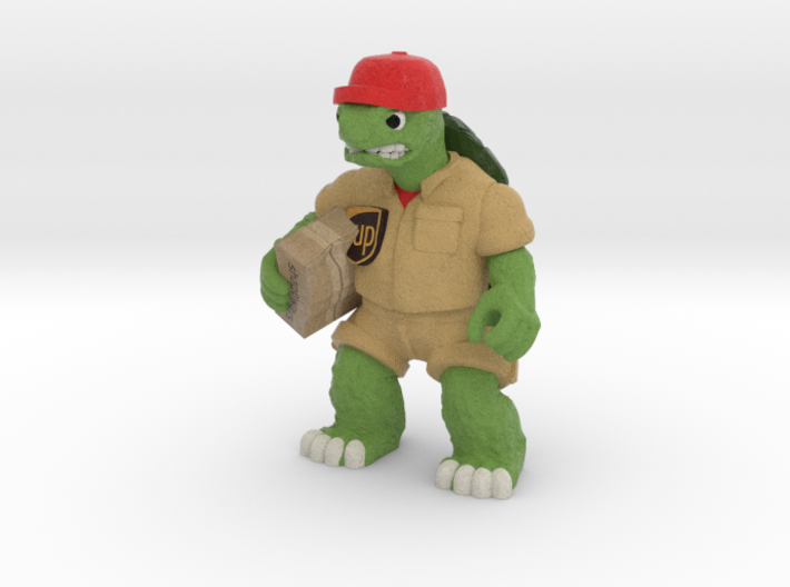 Day-Job Tortoise, Delivery (Sandstone) 3d printed