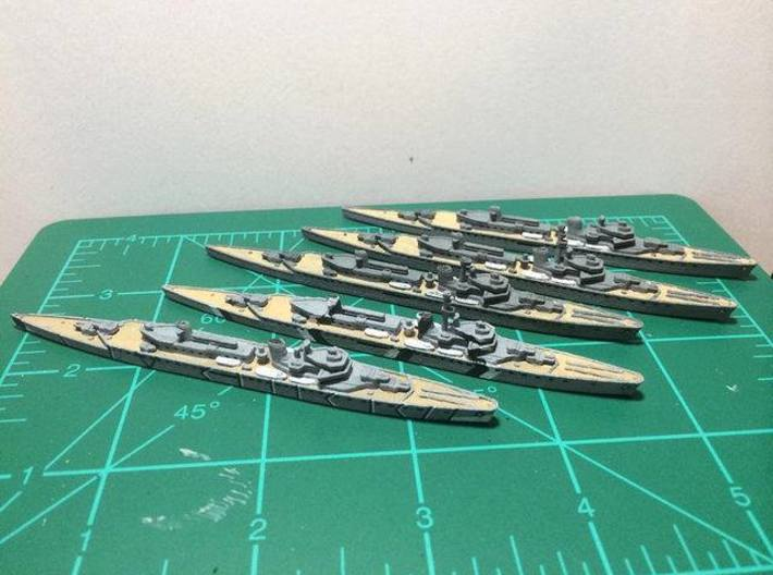 Munich (M-Class) 1/1800 3d printed By Nightfall (Only 1 with purchase)