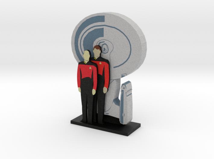 Enterprise: Picard and Riker = DESKAPADES = 3d printed