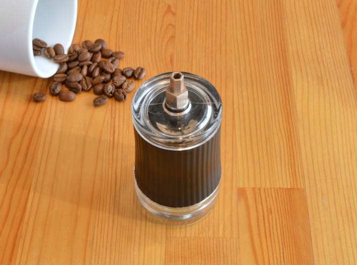 Coffee Grinder Bit For Drill Driver CDP-RE 3d printed With Porlex Green Tea Grinder