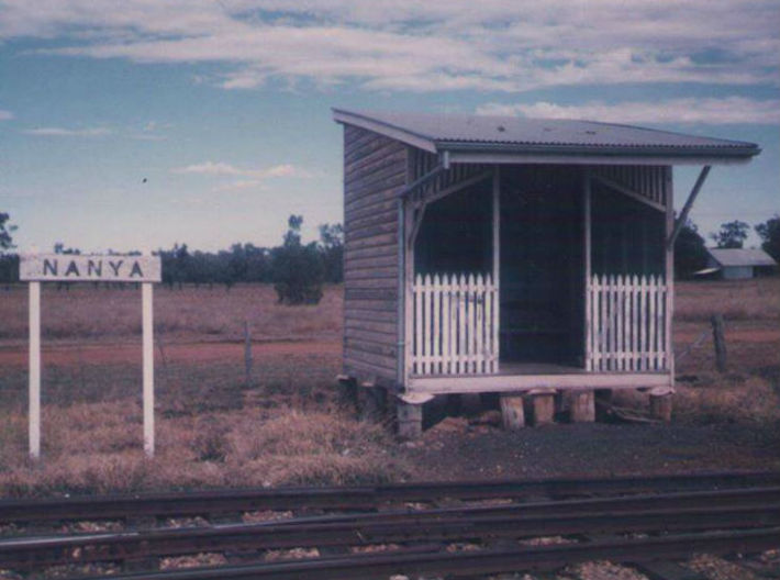 Nanya Shelter Shed (Type 2) 3d printed Image thanks to Peter Draper, Queensland Government Railways, Days Gone By.