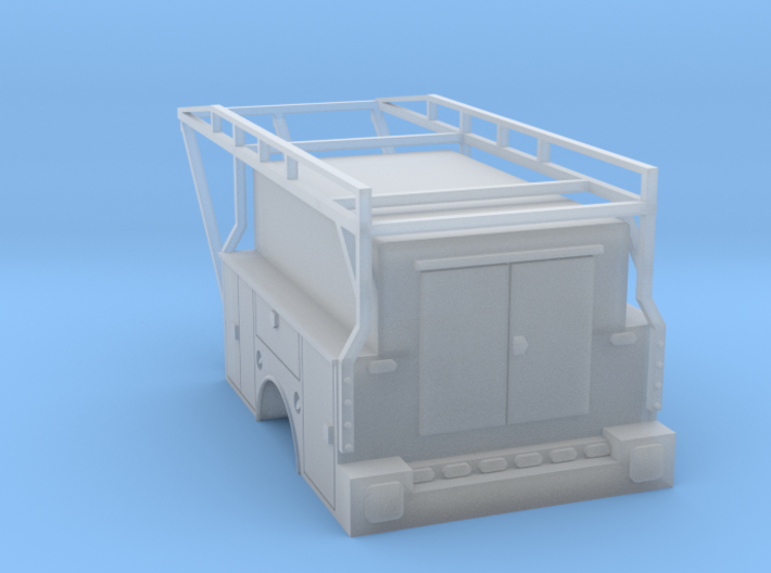 Standard Truck Bed With Enclosed Full Box 1-87 HO 3d printed