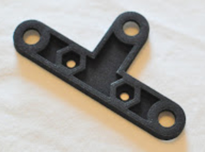 Garmin Varia mount for Topeak racks 3d printed Back side of printed bracket
