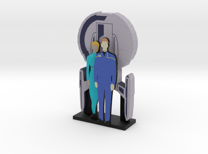Enterprise: Archer and T'Pol = DESKAPADES = 3d printed