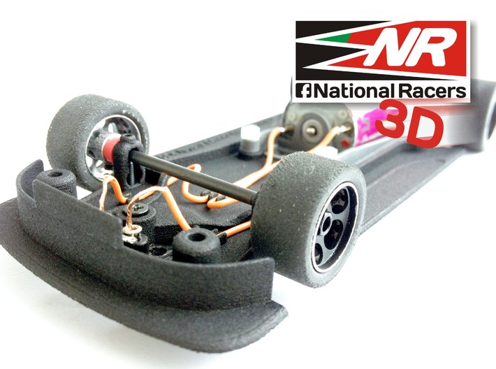 3D Chassis - SCX Ford FUSION 2008 (Combo) 3d printed