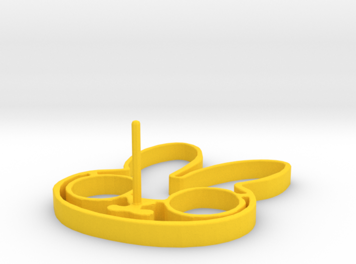 Easter Egg Ring 3d printed
