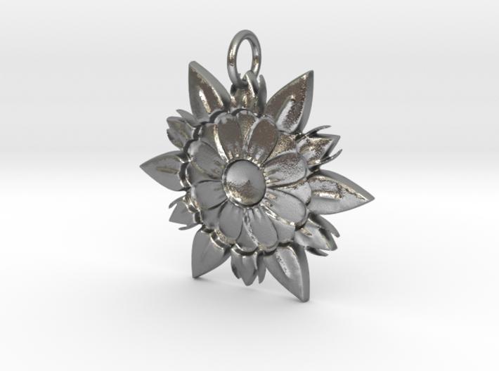 Elegant Chic Flower Pendant Charm 3d printed
