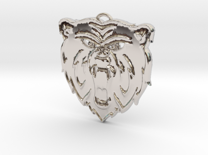 Angry Bear Cartoon Pendant Charm 3d printed