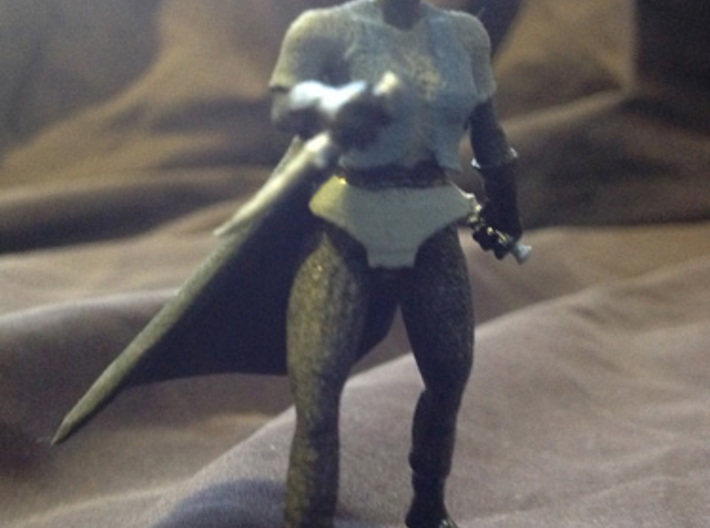 Drow Assassin 3d printed a painted example of this miniature