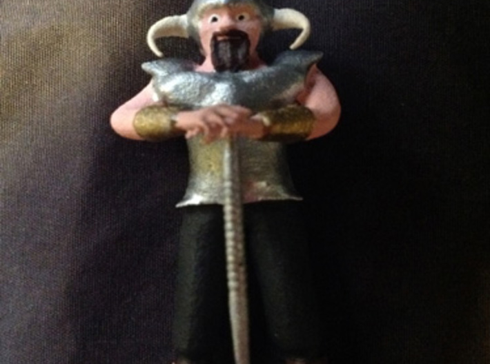Dwarf1 3d printed A painted example of this miniature