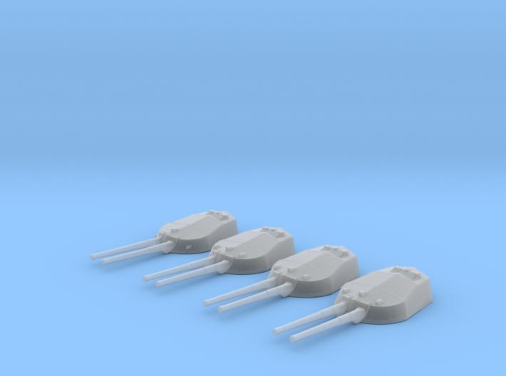 """1/700 RN WW1 13.5"""" MKV Guns x4 HMS Tiger 3d printed 1/700 RN WW1 13.5"""" MKV Guns x4 HMS Tiger"""