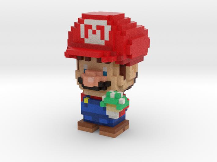 Super Plumber Red Bro Voxel Figurine 3d printed