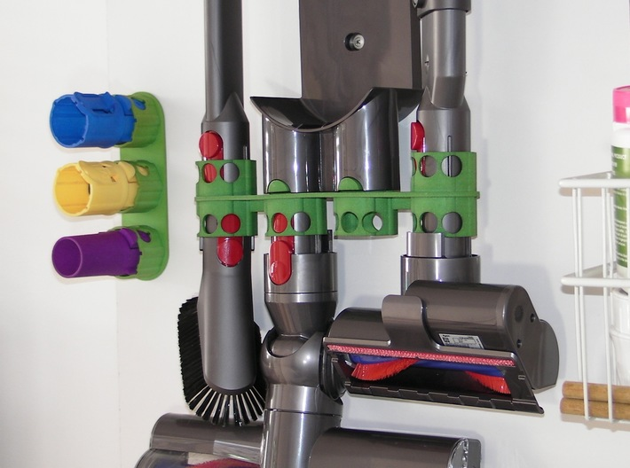 For Dyson V8 - BIGGER Wall Adapter 3d printed