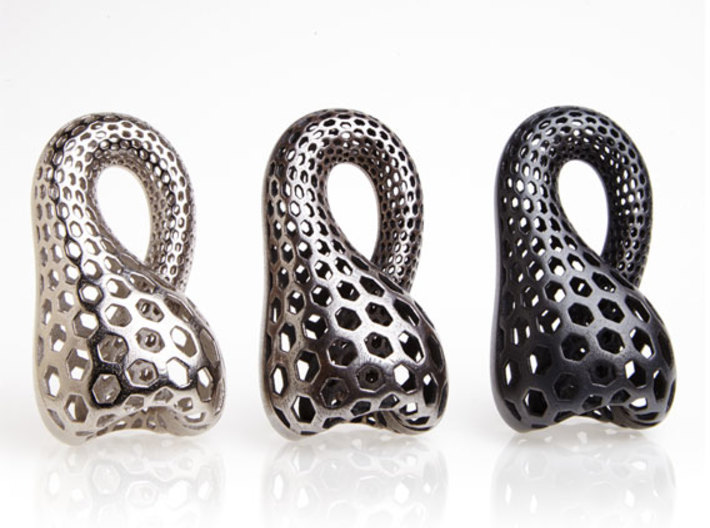 Inscribed Klein Bottle Opener with Image 3d printed Shapeways took this photo.  I suspect these are unusually well polished prints -- yours is probably rougher.