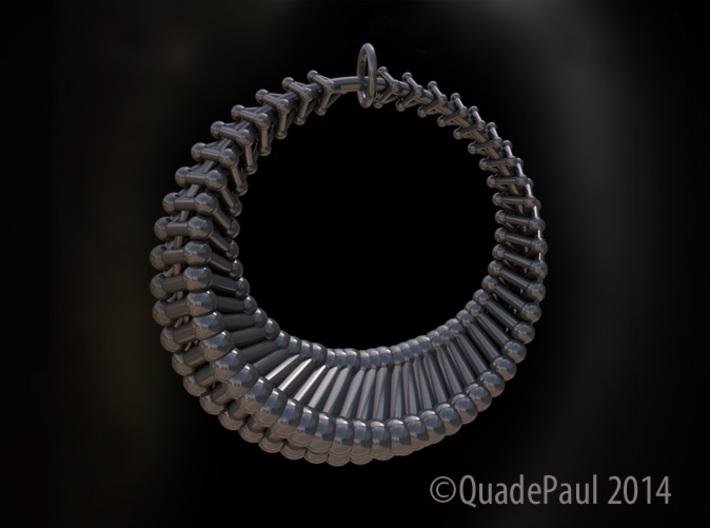 Luna1 pendant 3d printed Luna pendant in polished nickel