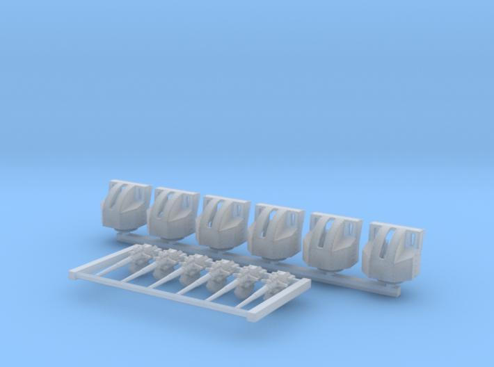 1/600 4.7 Inch /40 (12cm) QF Mark VIII x6 3d printed 1/600 4.7 Inch /40 (12cm) QF Mark VIII x6