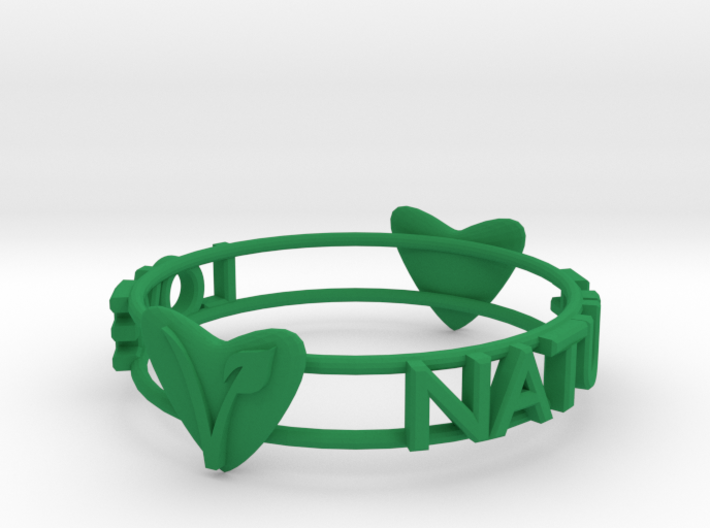 Love Nature Vegan Bracelet 3d printed