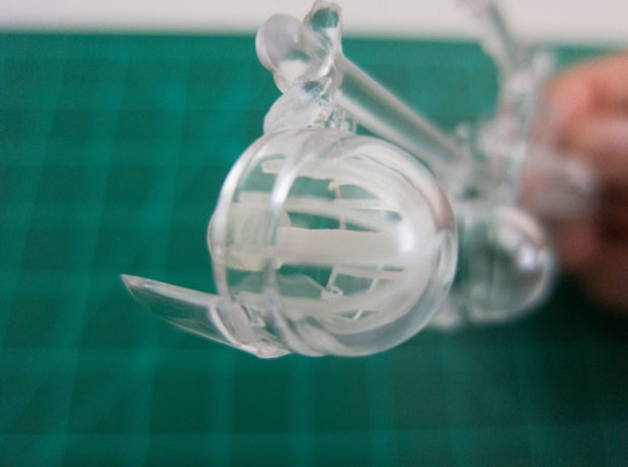 Bussard Dome Assembly - 1:1000 - 01 3d printed Printed part in kit outer dome housing.