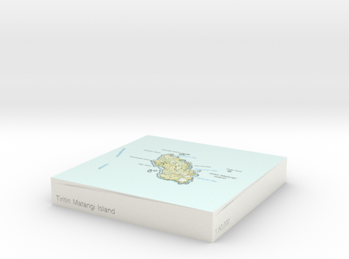 Tiritiri Matangi Island - 10cm / 1:50k 3d printed