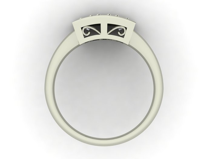 Fancy dress ring NO STONES SUPPLIED 3d printed
