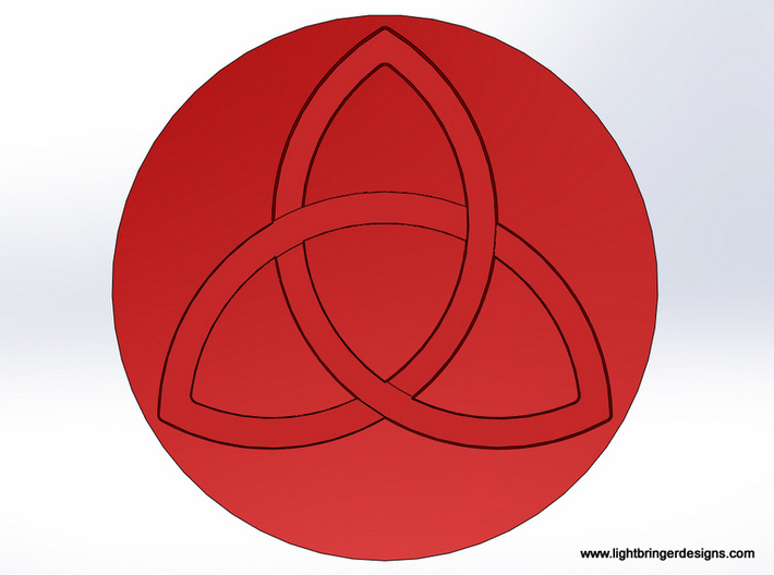 Trinity Wax Seal 3d printed Top view of the impression