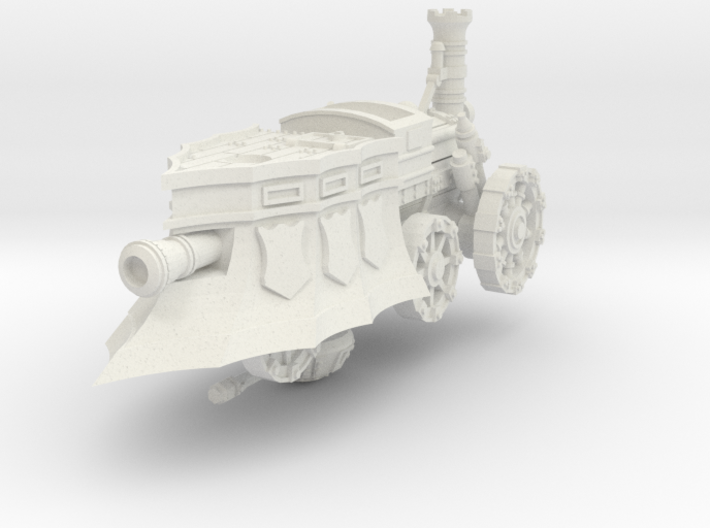 10mm Imperial Heavy Steam Tank (1pcs) 3d printed