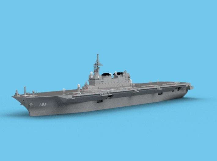 1/2000 JS Izumo 3d printed Computer software render.The actual model is not full color.
