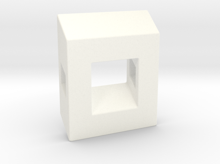 40 Degree ::: Square Pendant ::: v.01 3d printed