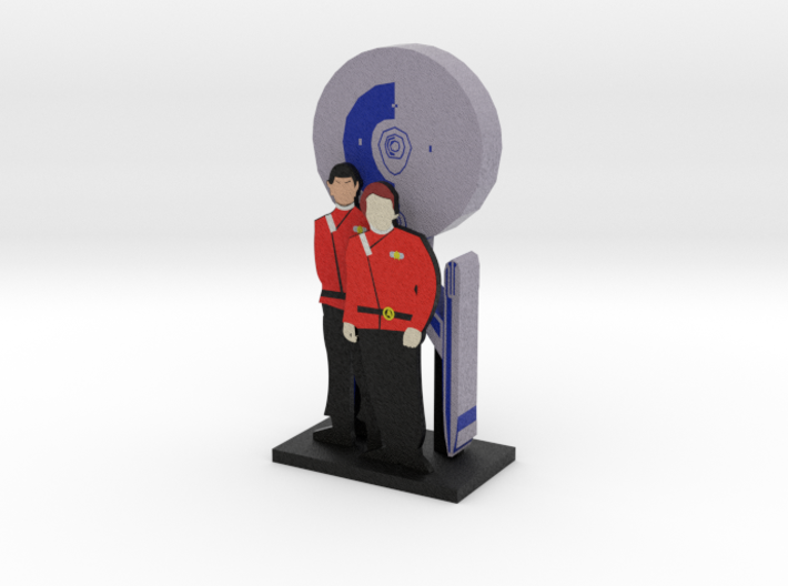 Enterprise: Kirk and Spock = DESKAPADES = 3d printed