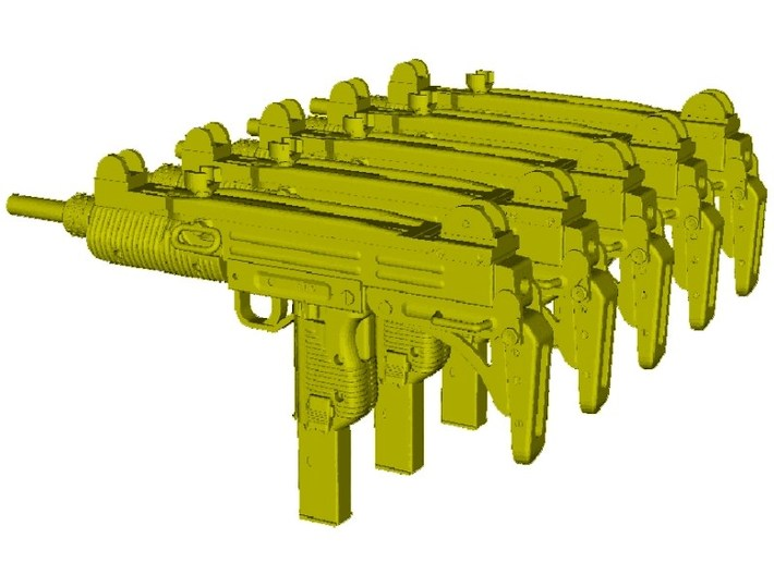 1/24 scale IMI Uzi submachineguns x 5 3d printed
