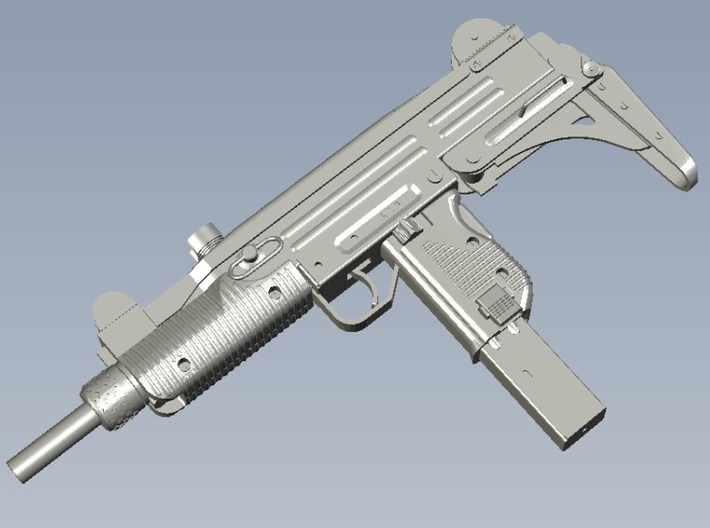 1/24 scale IMI Uzi submachineguns x 3 3d printed
