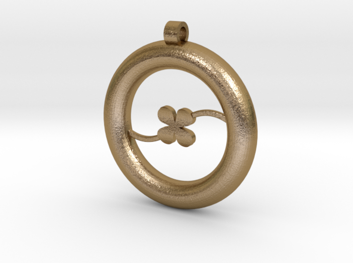 Ring Pendant - Clover 3d printed