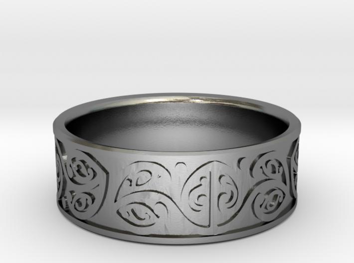 Koru Ring - US size 10 (19.9mm) 3d printed