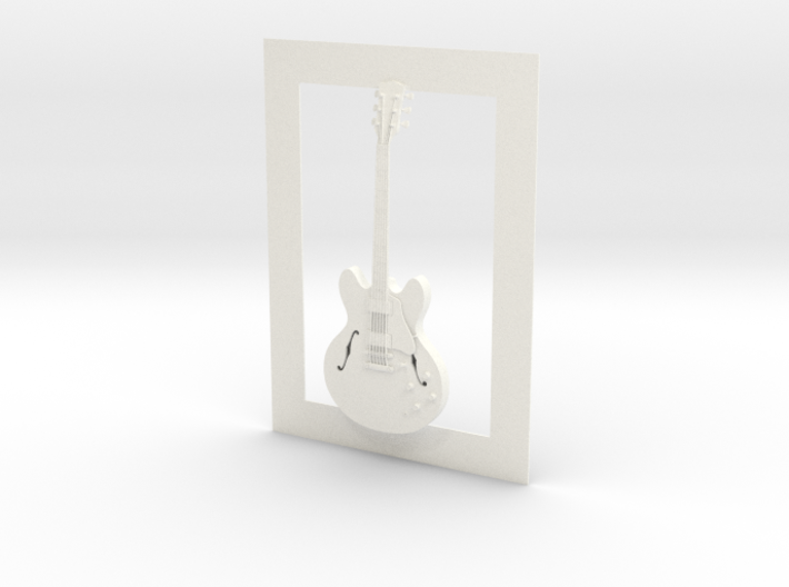 Gibson ES 335 guitar for photo frame 3d printed