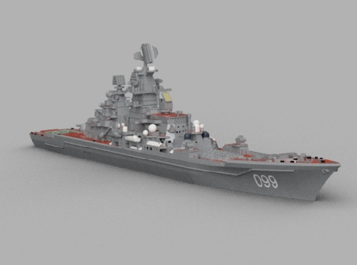 1/2000 RFS Pyotr Velikiy 3d printed Computer software render.The actual model is not full color.