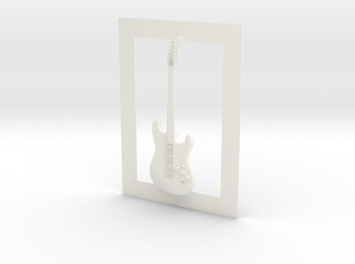Stratocaster guitar for photo frame 3d printed