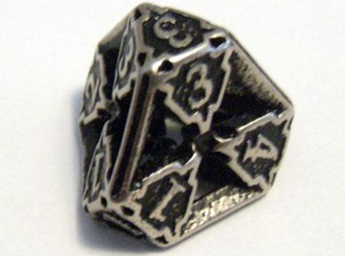 Die4 3d printed A Die4 in stainless steel and inked.