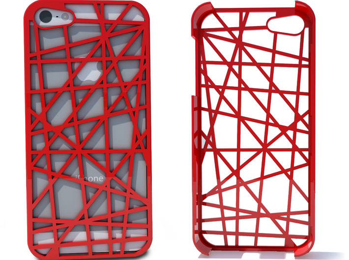iPhone 5 Case - Abstract 3d printed Heres an image of the iPhone case in red