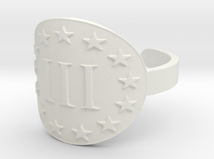 AP III% 3 Percenter Ring Size 13 3d printed