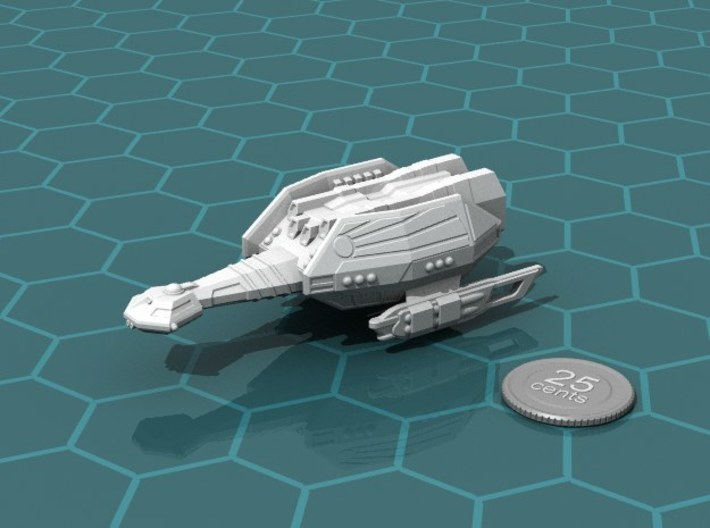 Ngaksu Thunderhead 3d printed Render of the model, with a virtual quarter for scale.