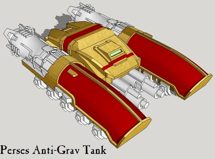 6mm Perses Light Anti-Grav Tanks (4pcs) 3d printed