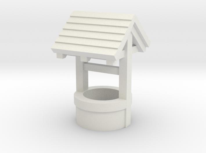N/OO Scale Water Well 3d printed