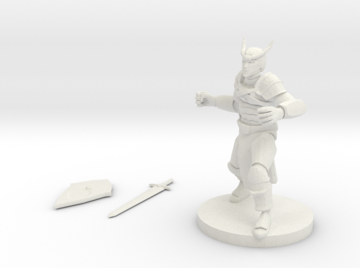 Tiefling Fighter 3d printed
