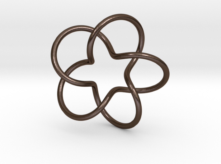 Torus knot- 5 lobes 3d printed