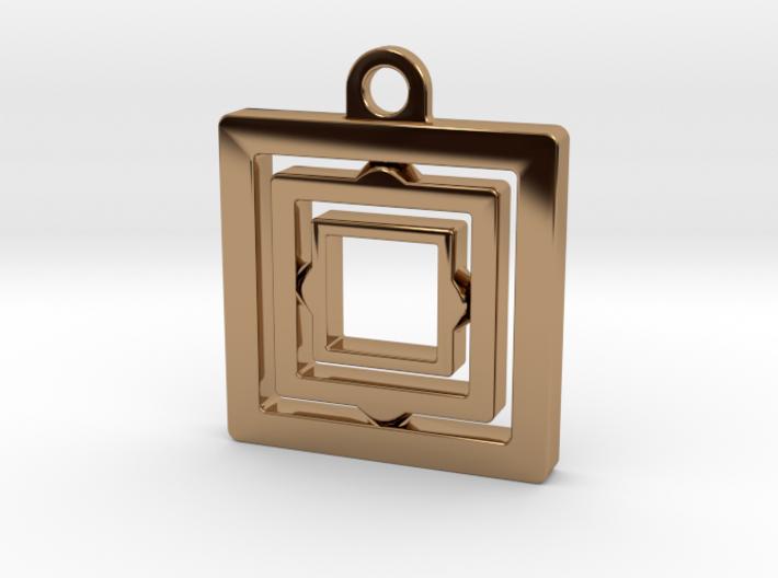 Rotating keychain 3d printed