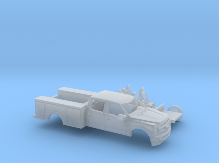 1/87 2017 Ford F-Series Crew/Utility Bed Kit 3d printed