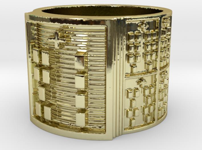 OGBETUMAKO Ring Size 13.5 3d printed