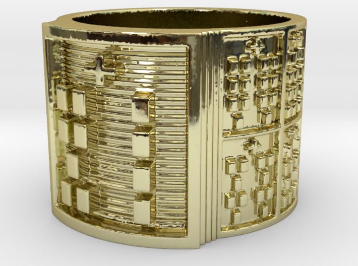 OGBETUMAKO Ring Size 14 3d printed