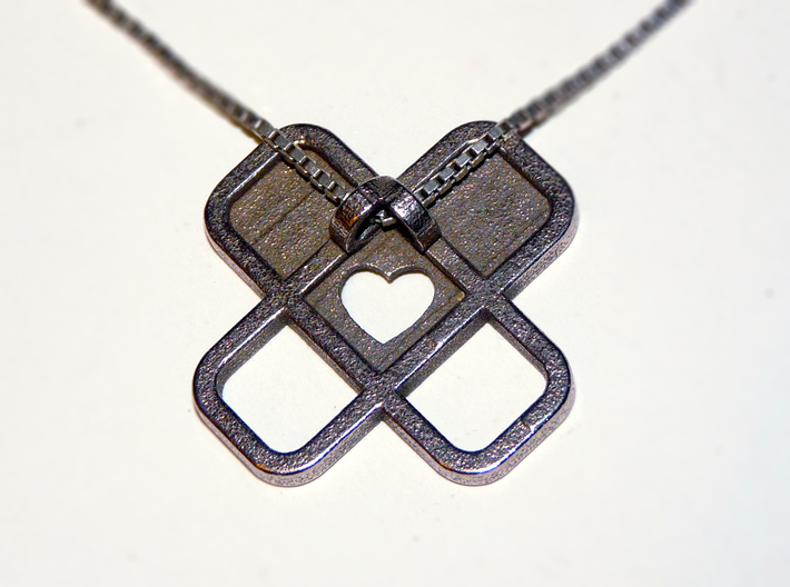 Heart Name Pendant 3d printed heart pendant2